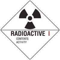 50x50mm - Self Adhesive - Sheet of 12 - Radioactive I