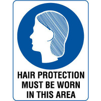 Hair Protection Must be Worn in This Area