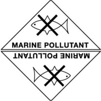 50x50mm - Self Adhesive - Sheet of 12 - Marine Pollutant
