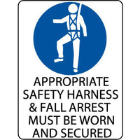 Appropriate Safety Harness and Fall Arrest Must be Worn and Secured
