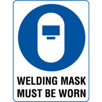 300x225mm - Poly - Welding Mask Must Be Worn