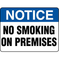 Notice No Smoking On Premises