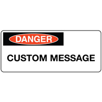Danger Sign Landscape - Custom