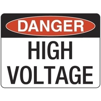 240x180mm - Self Adhesive - Danger High Voltage
