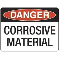 300x225mm - Poly - Danger Corrosive Material