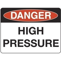 300x225mm - Poly - Danger High Pressure