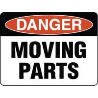 300x225mm - Poly - Danger Moving Parts