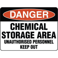 300x225mm - Poly - Danger Chemical Storage Area Unauthorised Personnel Keep Out
