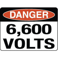 Danger 6,600 Volts