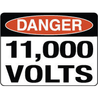 Danger 11,000 Volts