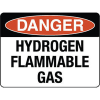 600x450mm - Metal - Danger Hydrogen Flammable Gas