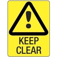 300x225mm - Poly - Keep Clear