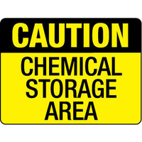 300x225mm - Poly - Caution Chemical Storage Area