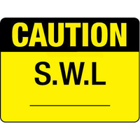 300x225mm - Poly - Caution S.W.L.