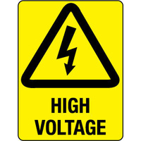 240x180mm - Self Adhesive - High Voltage