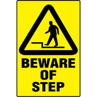 300x225mm - Poly - Beware of Step