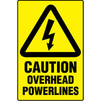 Caution Overhead Powerlines