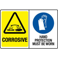 Corrosive/Hand Protection Must Be Worn