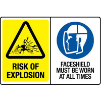 Risk Of Explosion/Face Shield Must Be Worn At All Times