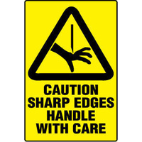Caution Sharp Edges Handle with Care