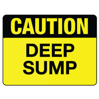 600x450mm - Metal, Class 2 Reflective - Caution Deep Sump