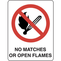 No Matches or Open Flames