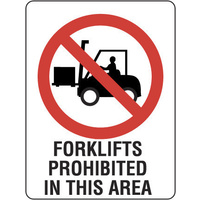 Forklifts Prohibited in This Area