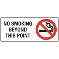 No Smoking Beyond this Point (Landscape)