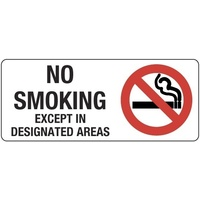 No Smoking Except In Designated Areas (Landscape)