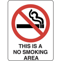 422MP -- 300x225mm - Poly - This is a No Smoking Area