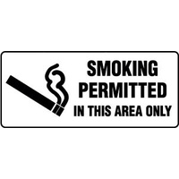 Smoking Permitted In This Area Only (Landscape)