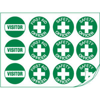 First Aid Assorted Hard Hat Labels