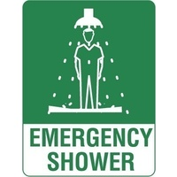 505MP -- 300x225mm - Poly - Emergency Shower