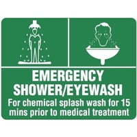 240x180mm - Self Adhesive - Emergency Shower/Eyewash