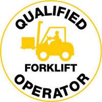 Qualified Forklift Operator Pictogram