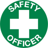50mm Disc - Self Adhesive - Sheet of 12 - Safety Officer Pictogram