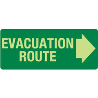 Evacuation Route (with right arrow)