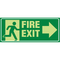 Fire Exit with Arrow Left