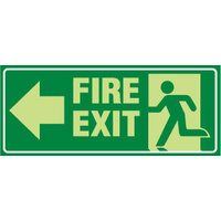 Fire Exit with Arrow Right