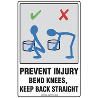 Prevent Injury Bend Knees, Keep Back Straight
