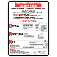 Electric Shock CPR Chart