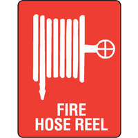 707LSP -- 450x300mm - Poly - Fire Hose Reel (with pictogram)