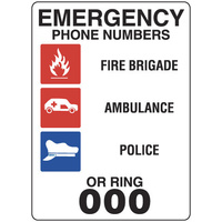 Emergency Phone Numbers or Ring 000