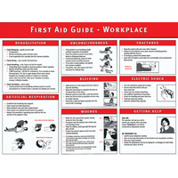 A3 Laminated Workplace First Aid Guide Poster