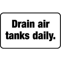 Drain Air Tanks Daily