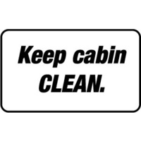 90x55mm - Self Adhesive - Sheet of 10 - Keep Cabin Clean