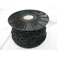 6mm Black Plastic Chain - Roll of 50mtrs