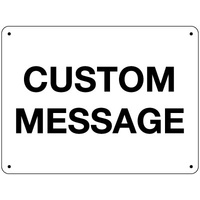 Blank White Sign - Custom
