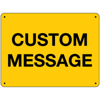 Blank Yellow Sign - Custom