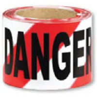 Barrier Tape - Red and White - Danger